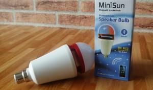 MiniSun Bluetooth LED Colour Changing Speaker Bulb