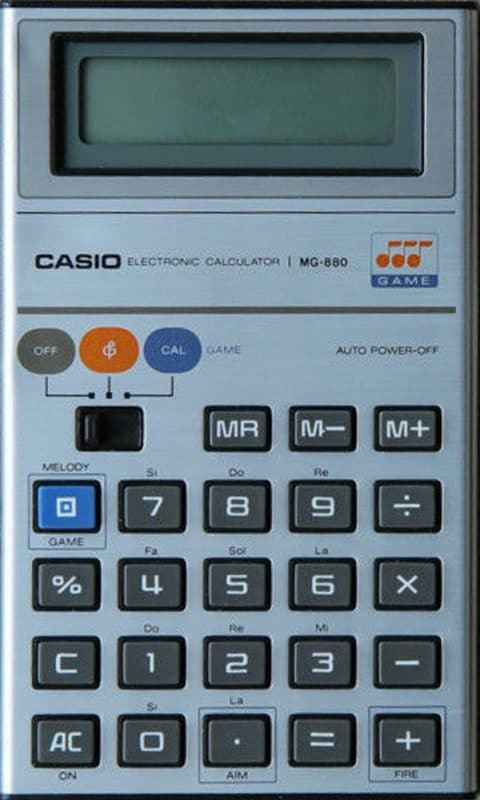The Casio MG-880 Pocket Calculator