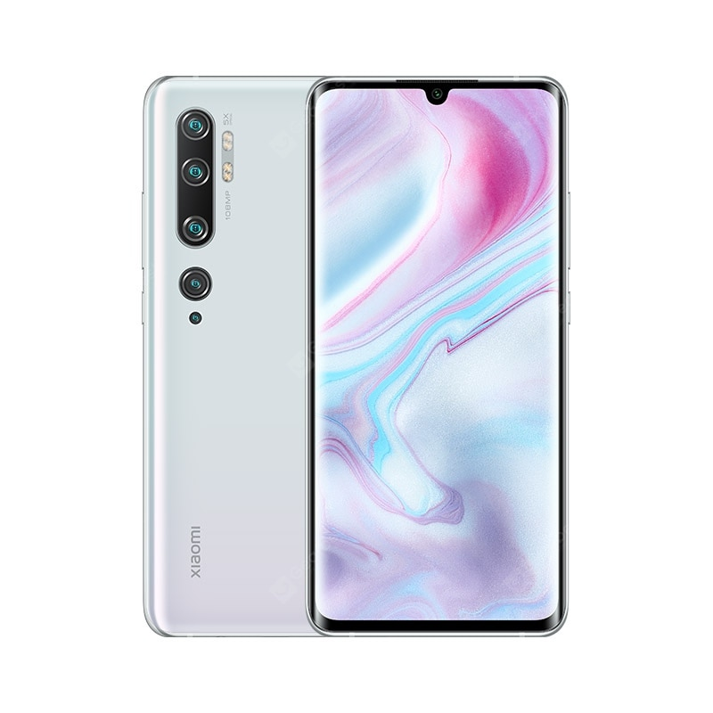Xiaomi Mi Note 10 (CC9 Pro) 108MP Penta Camera Phone Global Version - White