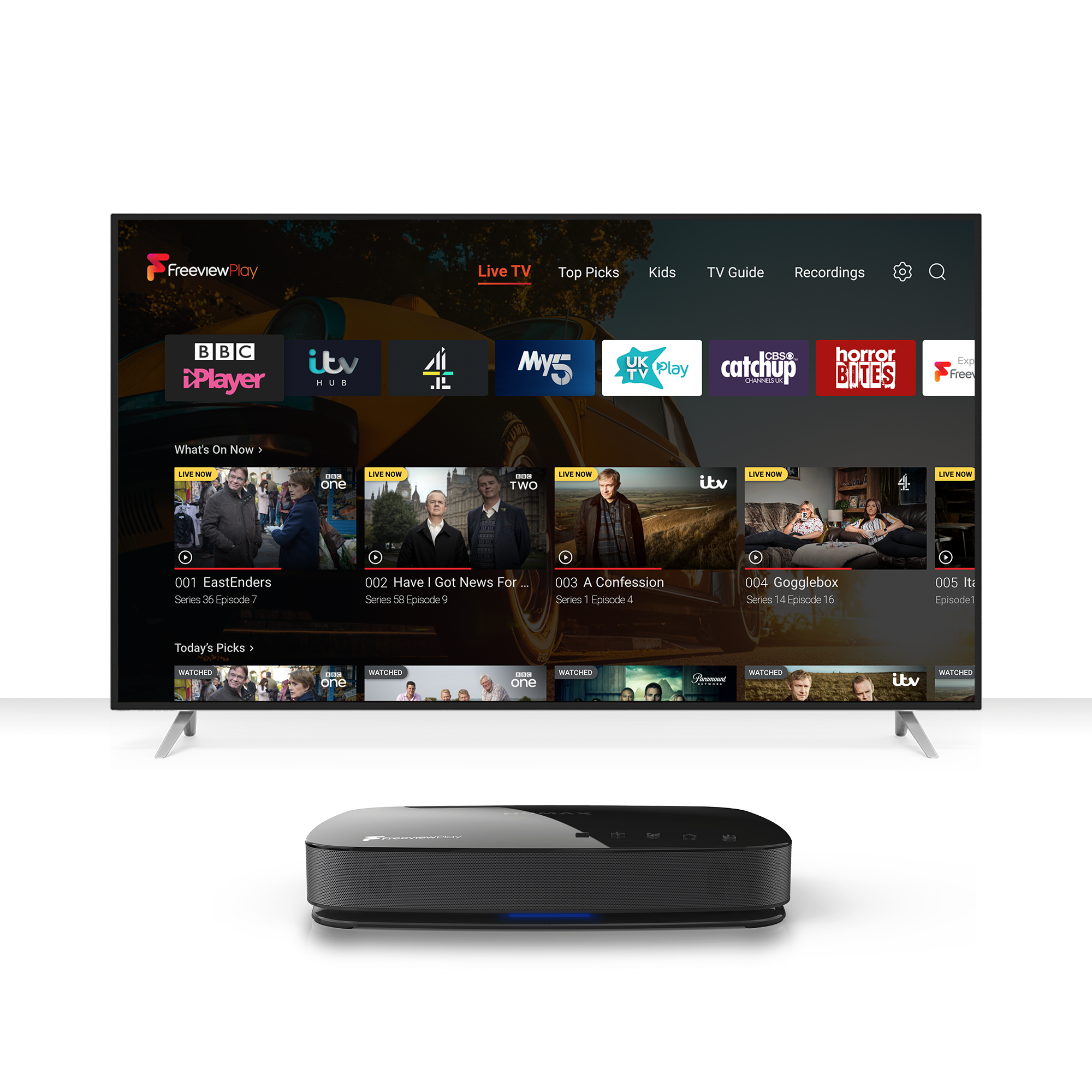 Humax AURA Freeview Play home_whitebkg